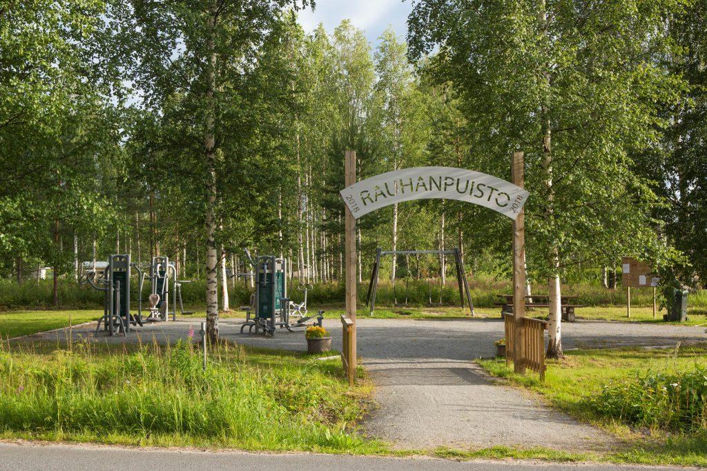 Kuva rauhanpuistosta