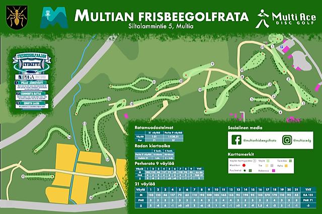 Frisbeegolfradan kartta
